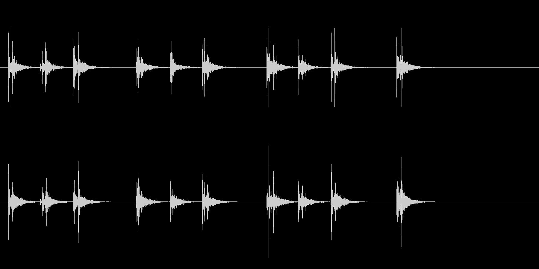 軽快なスティック同士を叩くフレーズ音の未再生の波形