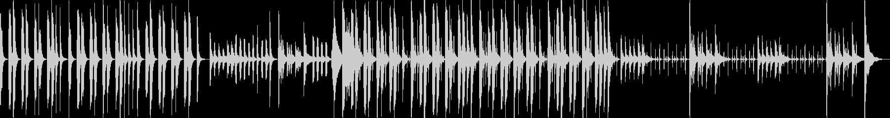 ピアノ・木琴などの静かめでコミカルな曲の未再生の波形