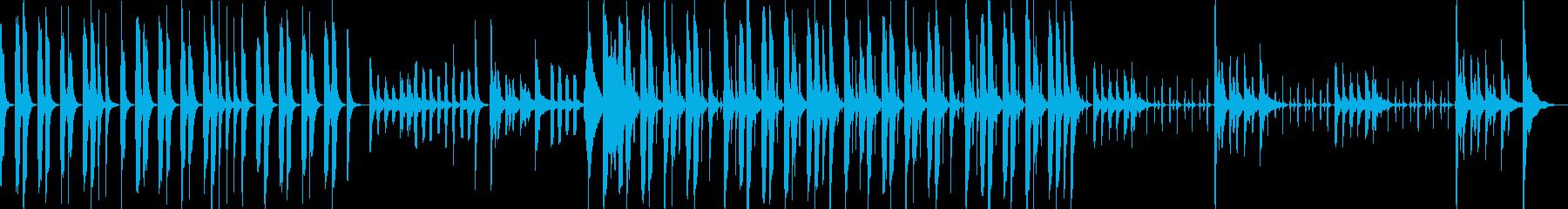 ピアノ・木琴などの静かめでコミカルな曲の再生済みの波形
