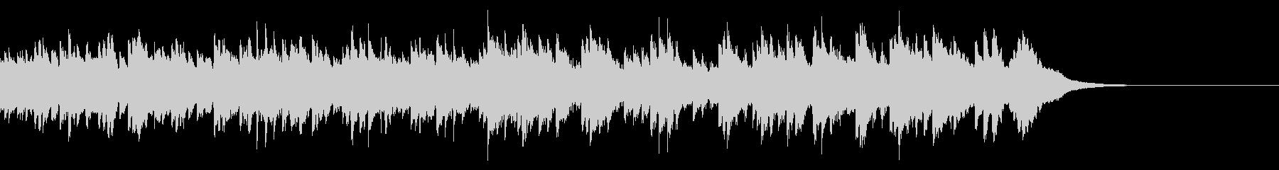 儚くせつないセンチメンタルなオルゴール曲の未再生の波形