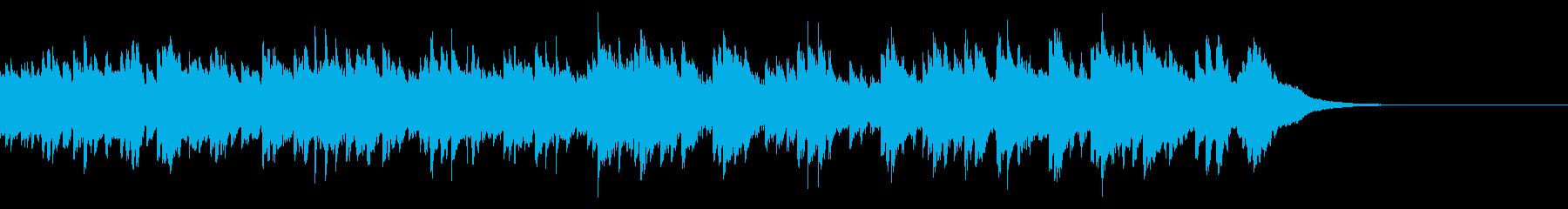 儚くせつないセンチメンタルなオルゴール曲の再生済みの波形