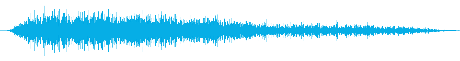 小さな処理されたマイクロエアバーストの再生済みの波形