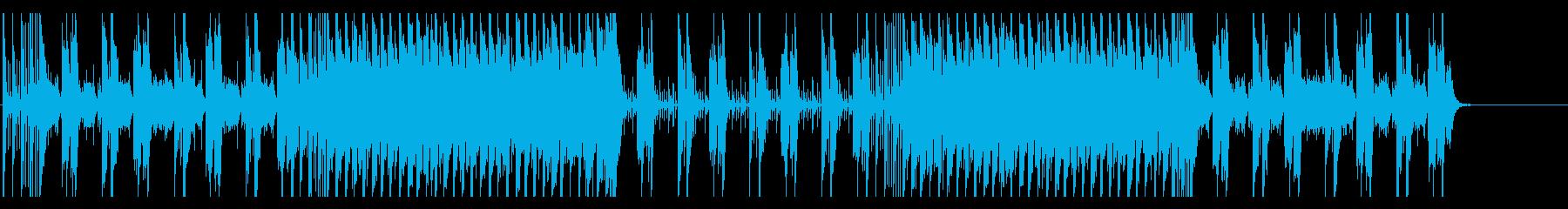 明るい印象のポップスBGMの再生済みの波形