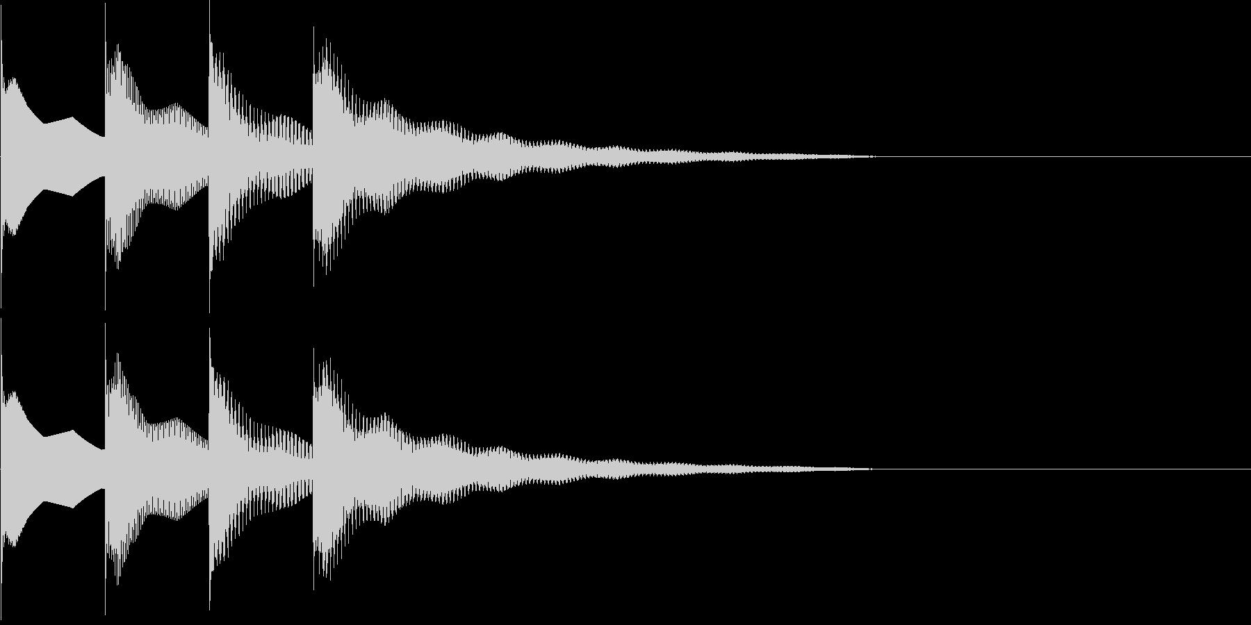 ピンポンパンポン下降の未再生の波形