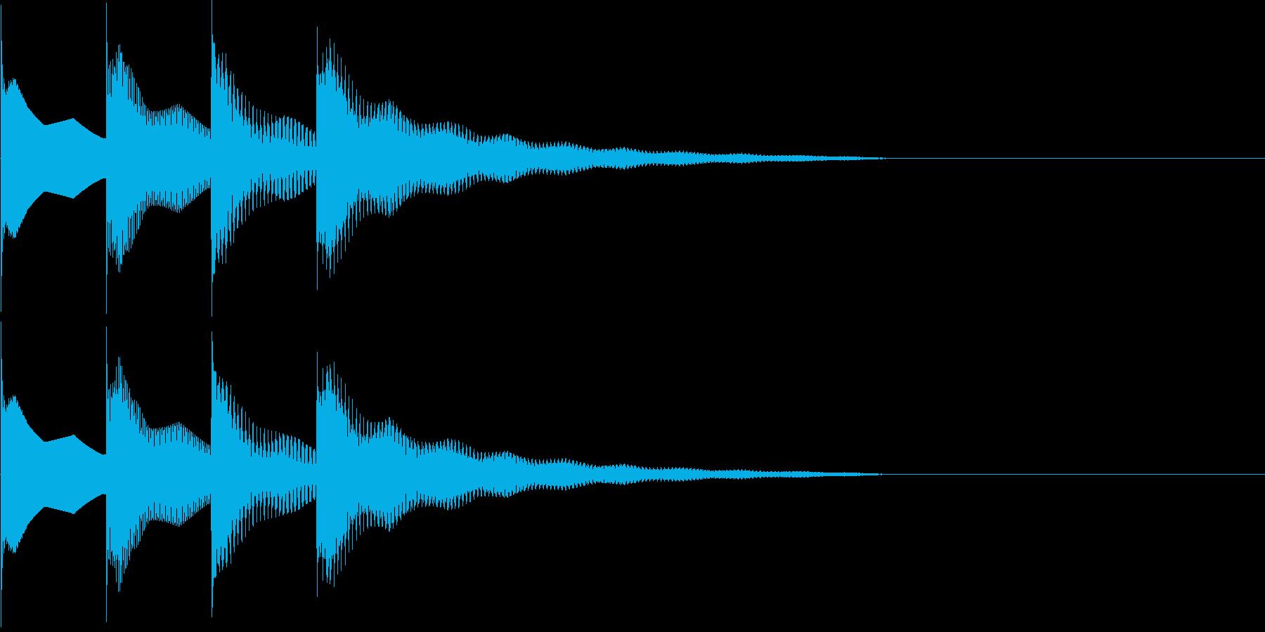 ピンポンパンポン下降の再生済みの波形