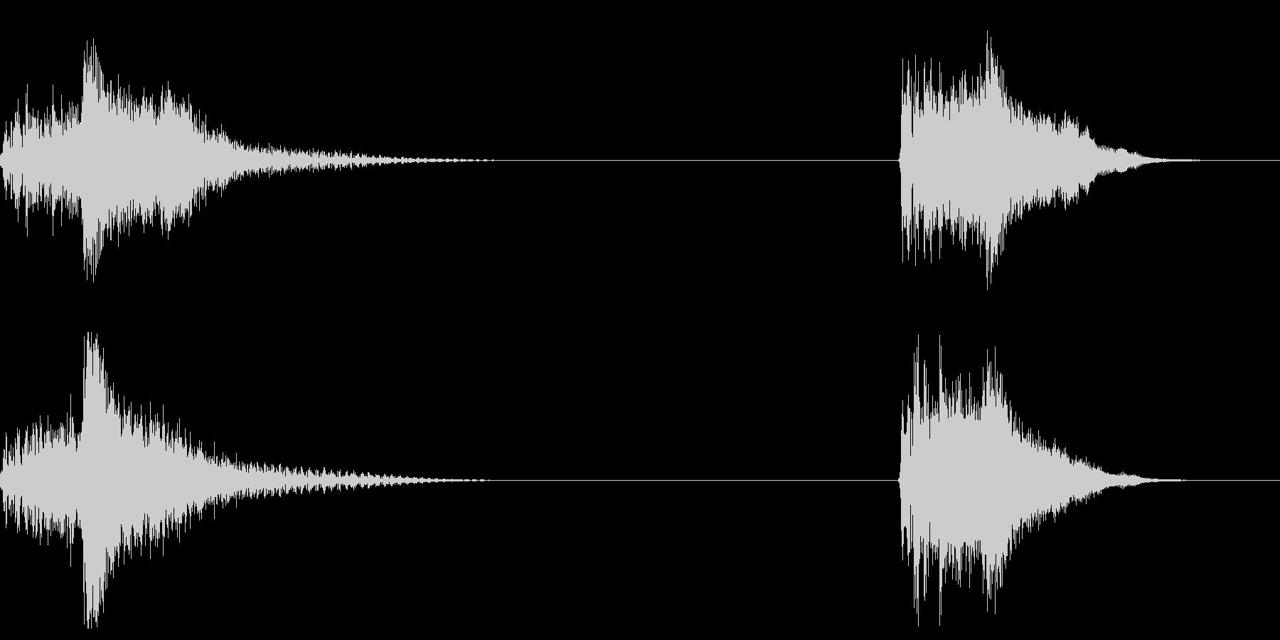 ウェットスケールヒット、2バージョ...の未再生の波形