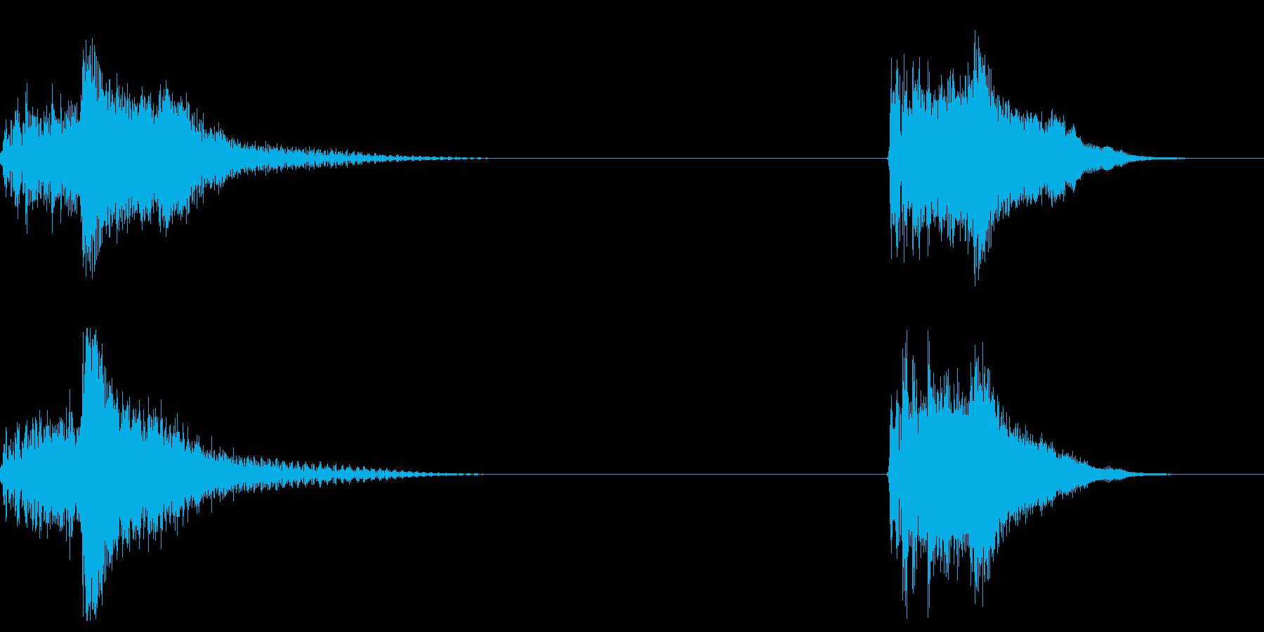 ウェットスケールヒット、2バージョ...の再生済みの波形