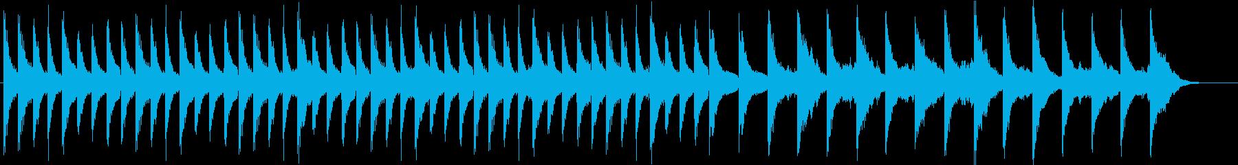 ノスタルジックなピアノコードと浮遊感の再生済みの波形