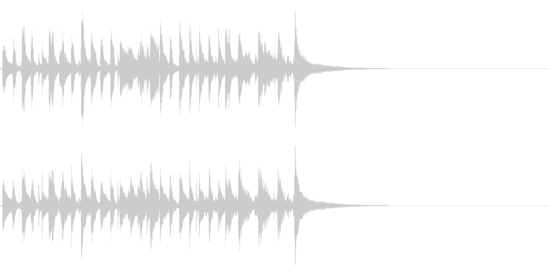 生演奏ジングル15秒・陽気なピアノジャズの未再生の波形