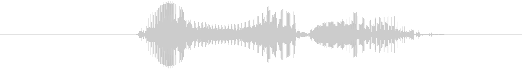 とりゃ!の未再生の波形