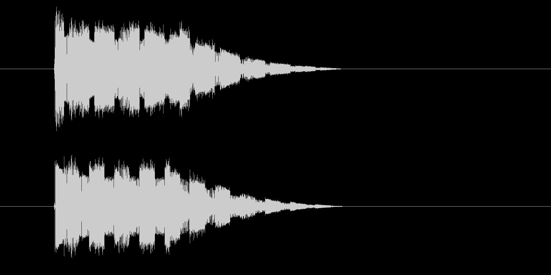 レトロゲーム風 攻撃魔法の音の未再生の波形