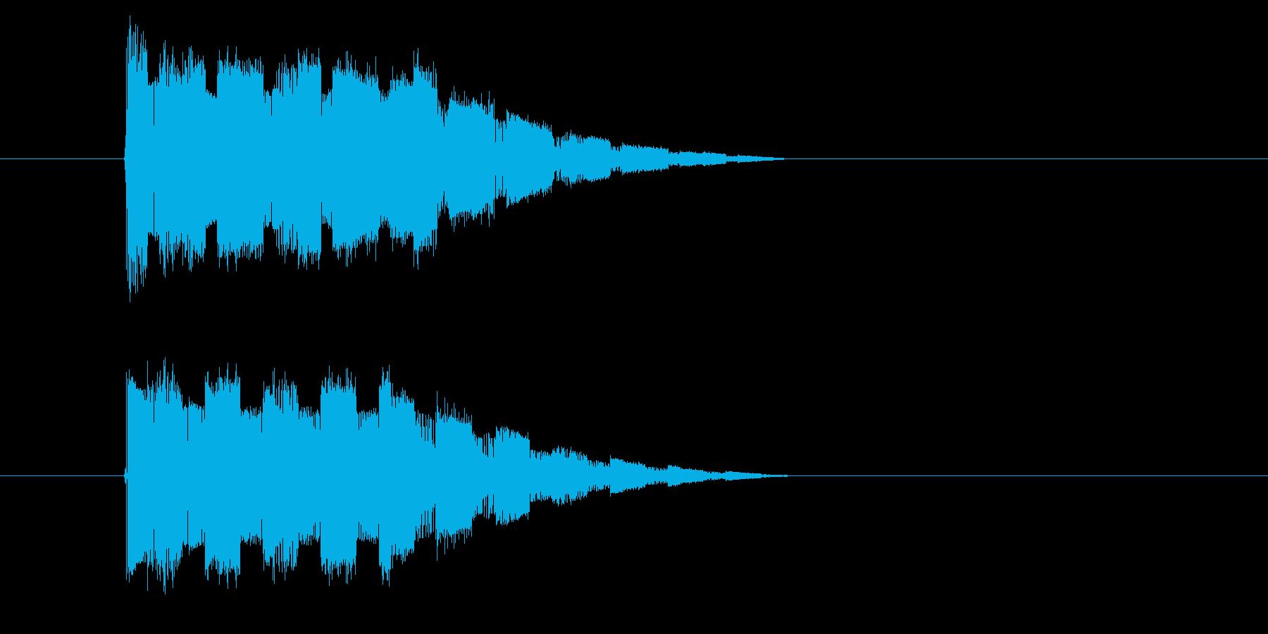 レトロゲーム風 攻撃魔法の音の再生済みの波形