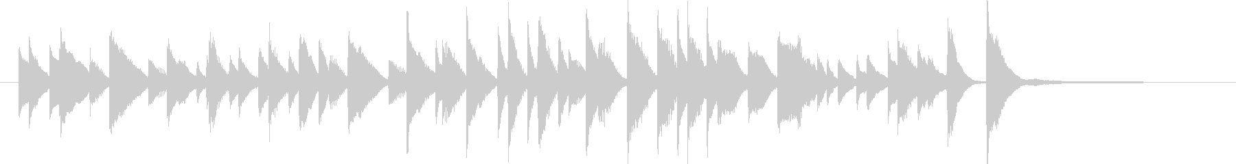 CM15秒、明るく軽快なジャズピアノソロの未再生の波形