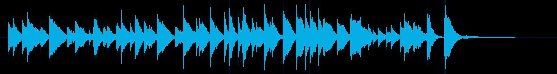 CM15秒、明るく軽快なジャズピアノソロの再生済みの波形