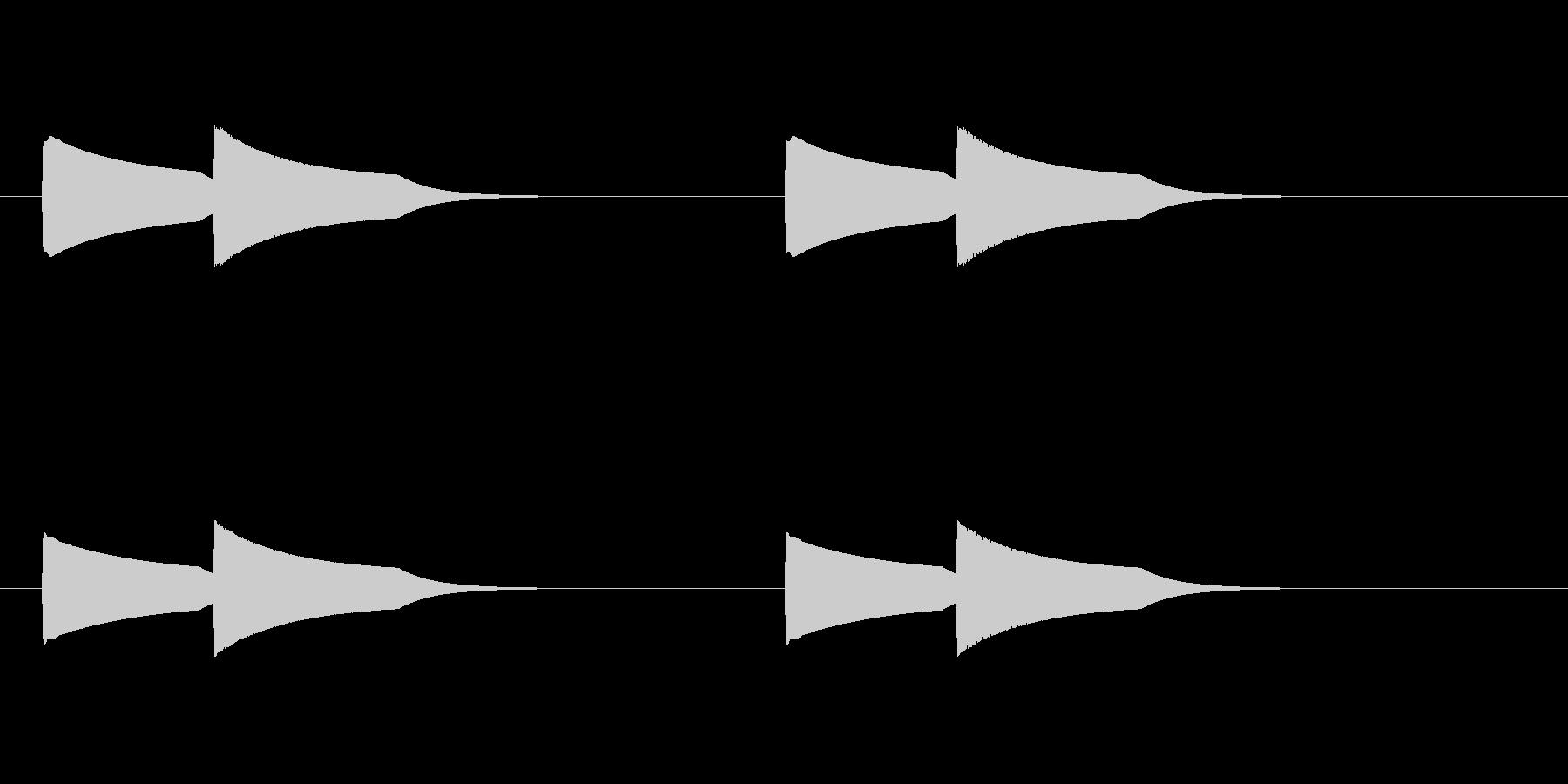 ピンポーン(インターホン)2回バージョンの未再生の波形