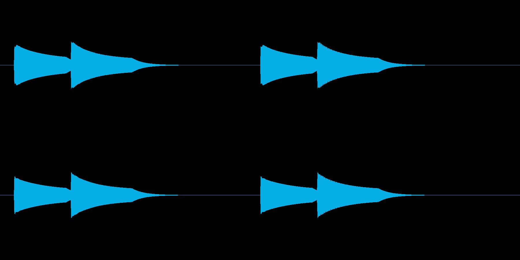 ピンポーン(インターホン)2回バージョンの再生済みの波形