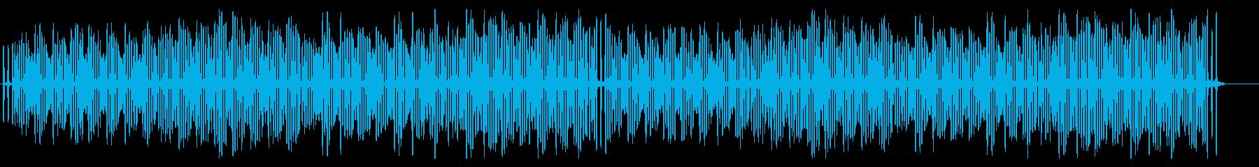 コミカルで軽快・明るく楽しいシンプルな曲の再生済みの波形