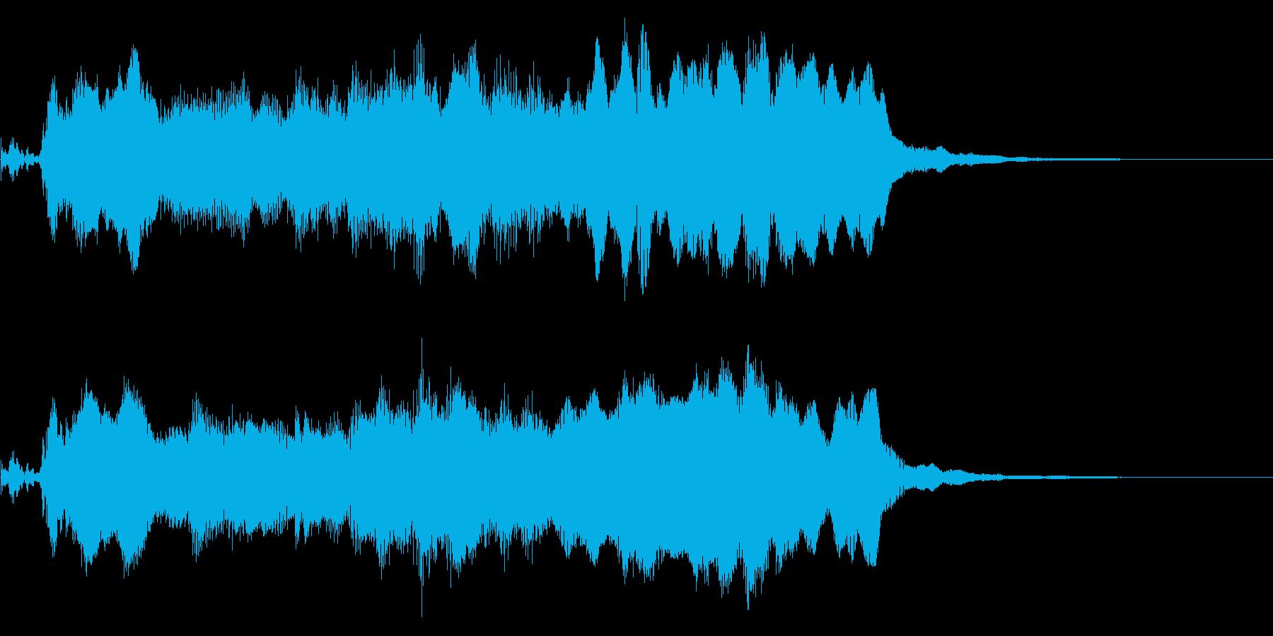 ケルト風 素朴でファンタジックなジングルの再生済みの波形