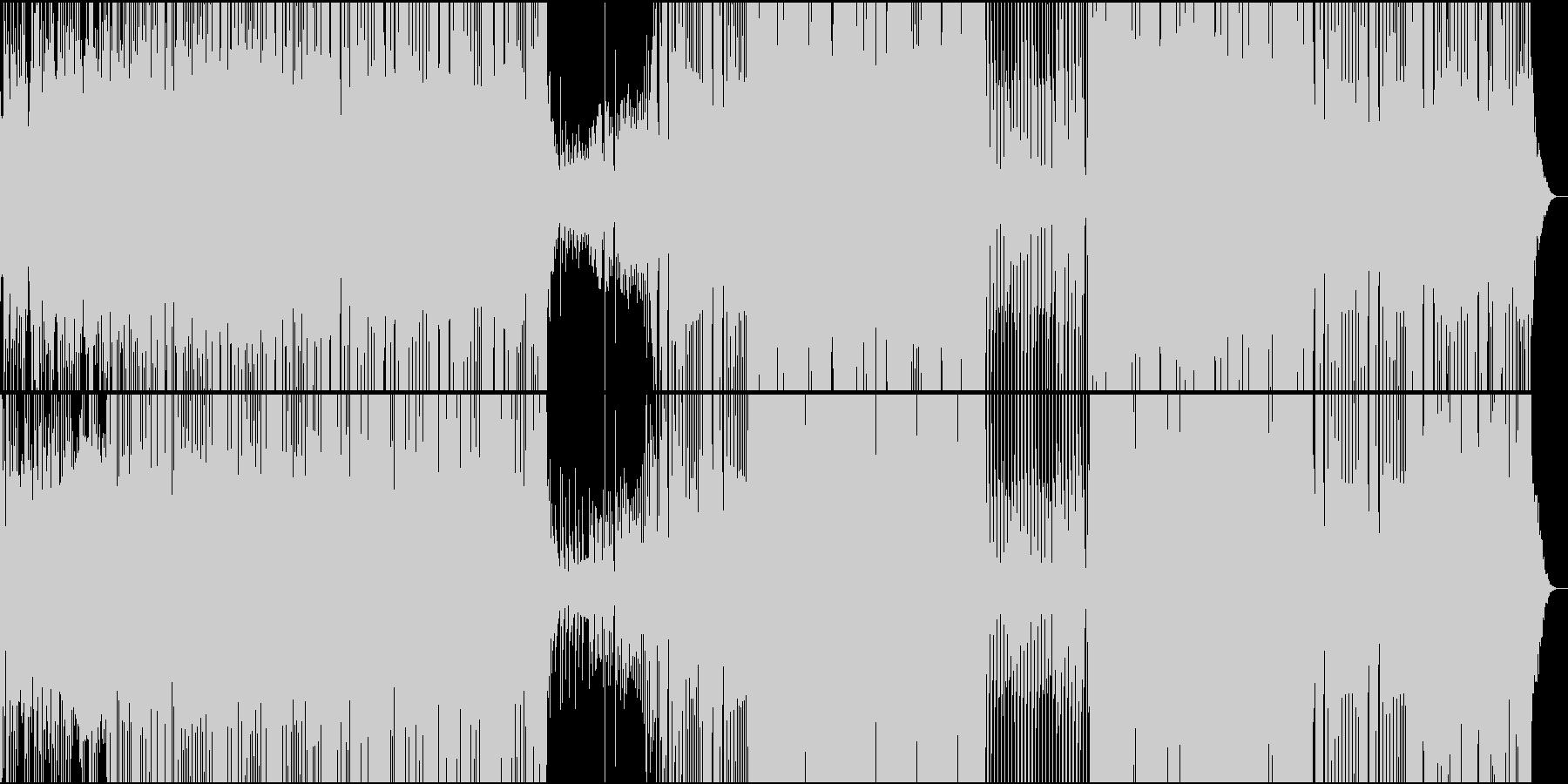 和楽器の軽やかなリズムの和風EDMの未再生の波形