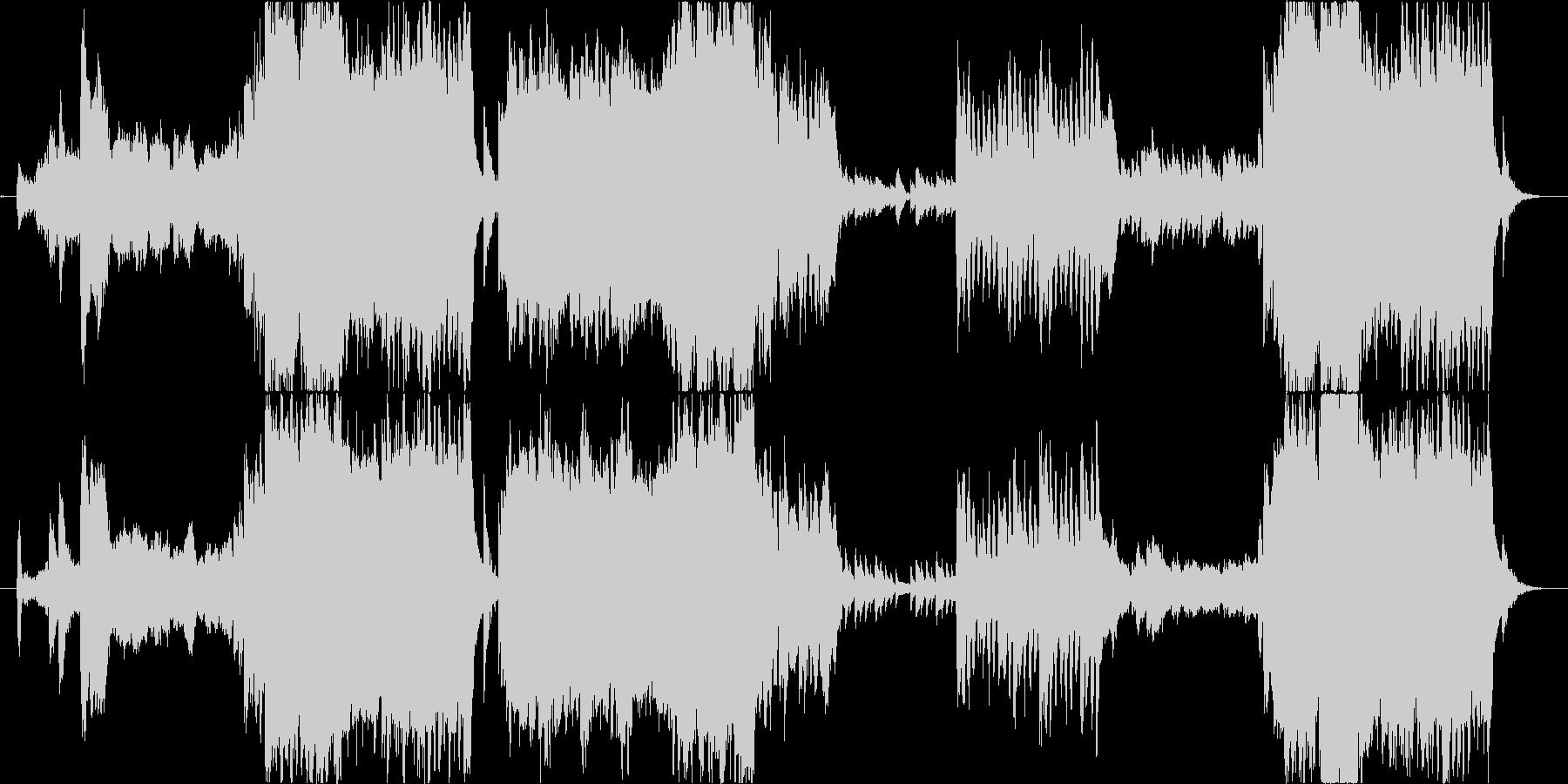 優しくて壮大な和風オーケストラBGMの未再生の波形