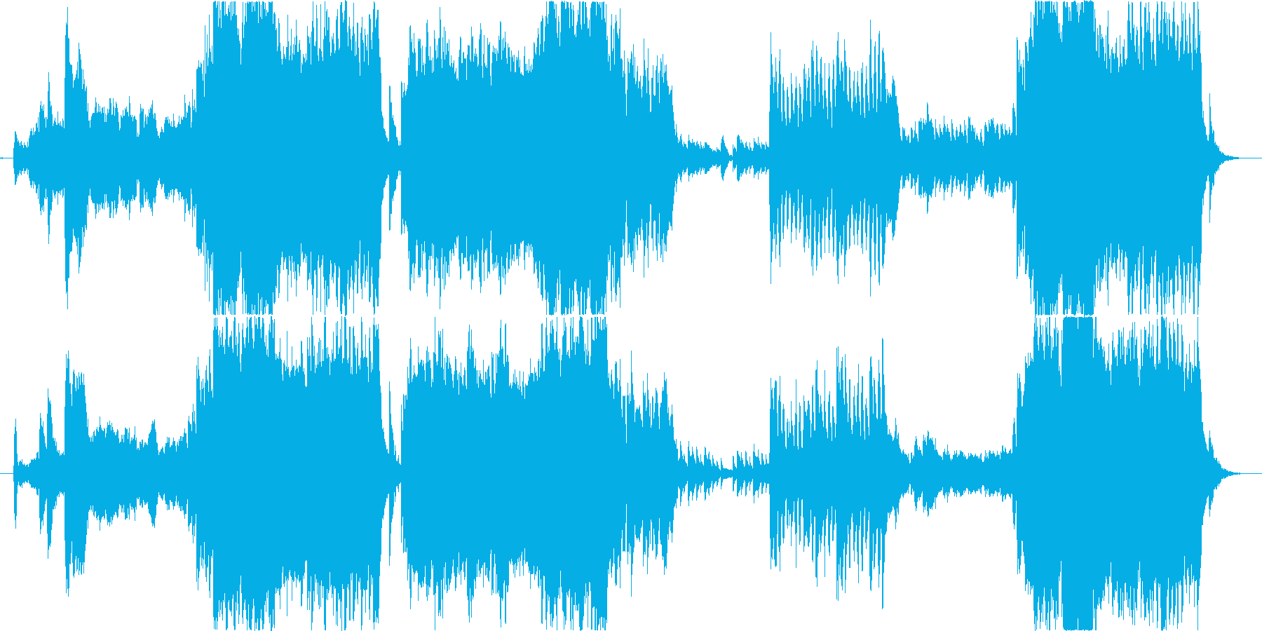 優しくて壮大な和風オーケストラBGMの再生済みの波形