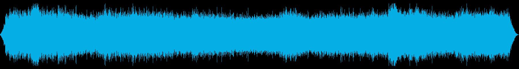 森林または山の風:非常に重い揺れ、ガス壁の再生済みの波形