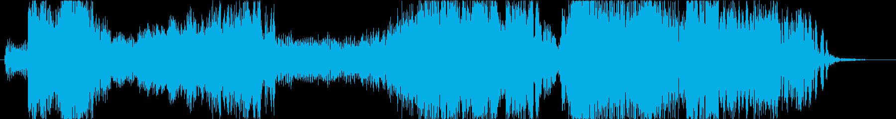 タイピング音を取り入れたジングルの再生済みの波形