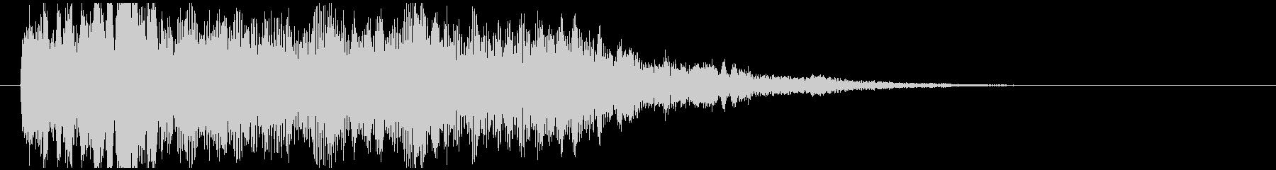 神秘的で透明感のあるインパクト音8の未再生の波形