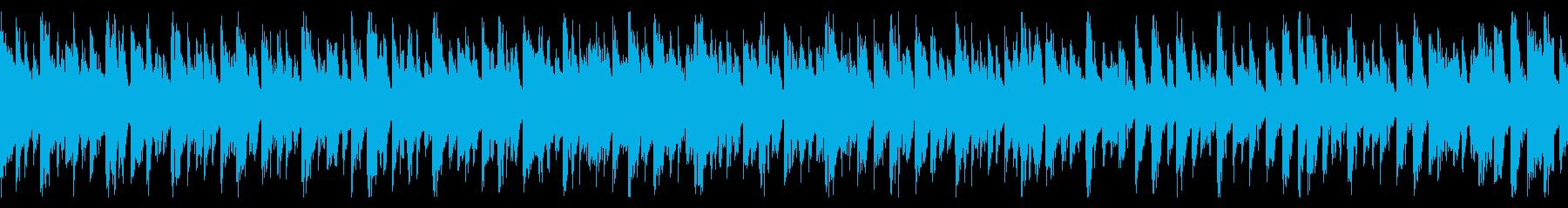 コミカルで明朗な、スピード感のある曲の再生済みの波形