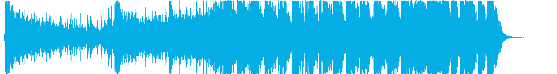 派手なEDM系登場系ファンキーなジングルの再生済みの波形