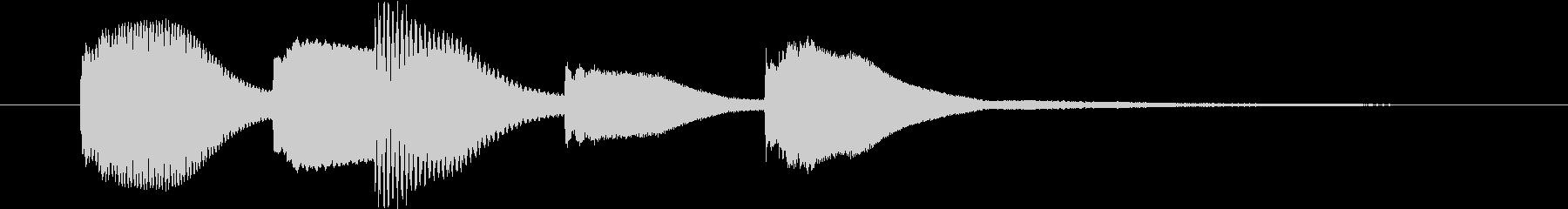 可愛い木琴の未再生の波形
