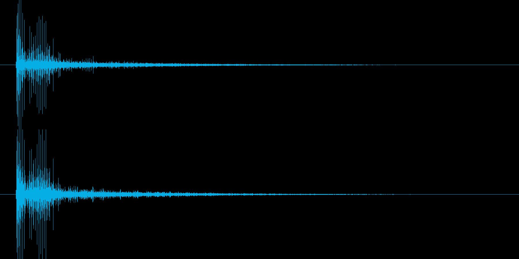 ブーッ(機械的なビーム音)の再生済みの波形
