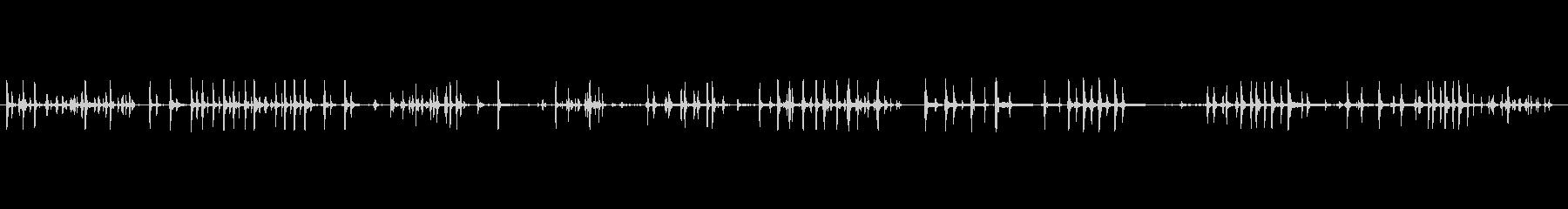コンピューターのキーボードクリックアタリの未再生の波形