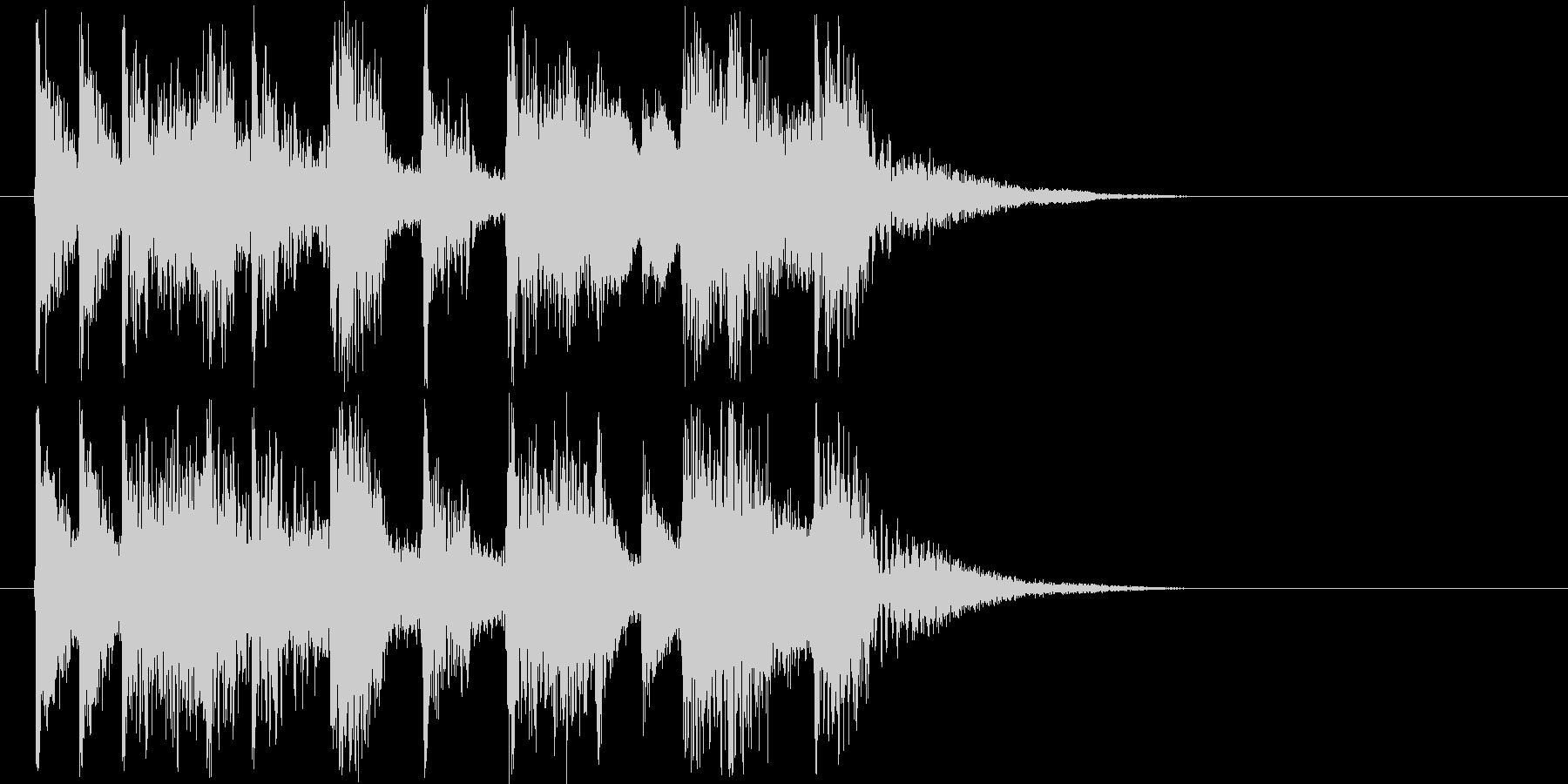 ジングルに最適なエレクトリックサウンドの未再生の波形