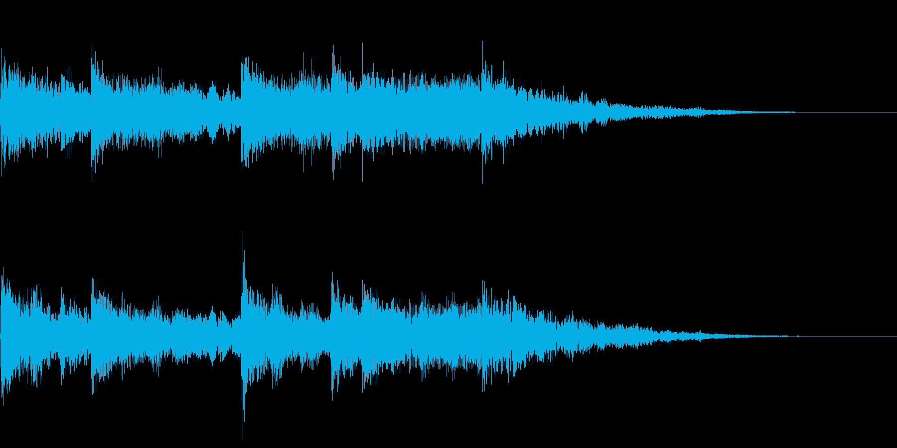 ラジオ、ニュース、CM、企業ジングルの再生済みの波形