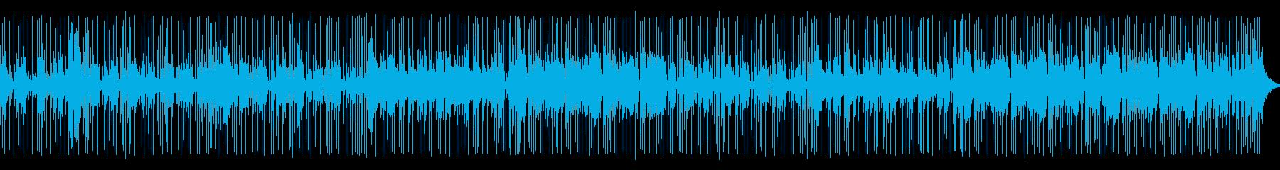 ドラムキックの効いたかっこいいロックの曲の再生済みの波形