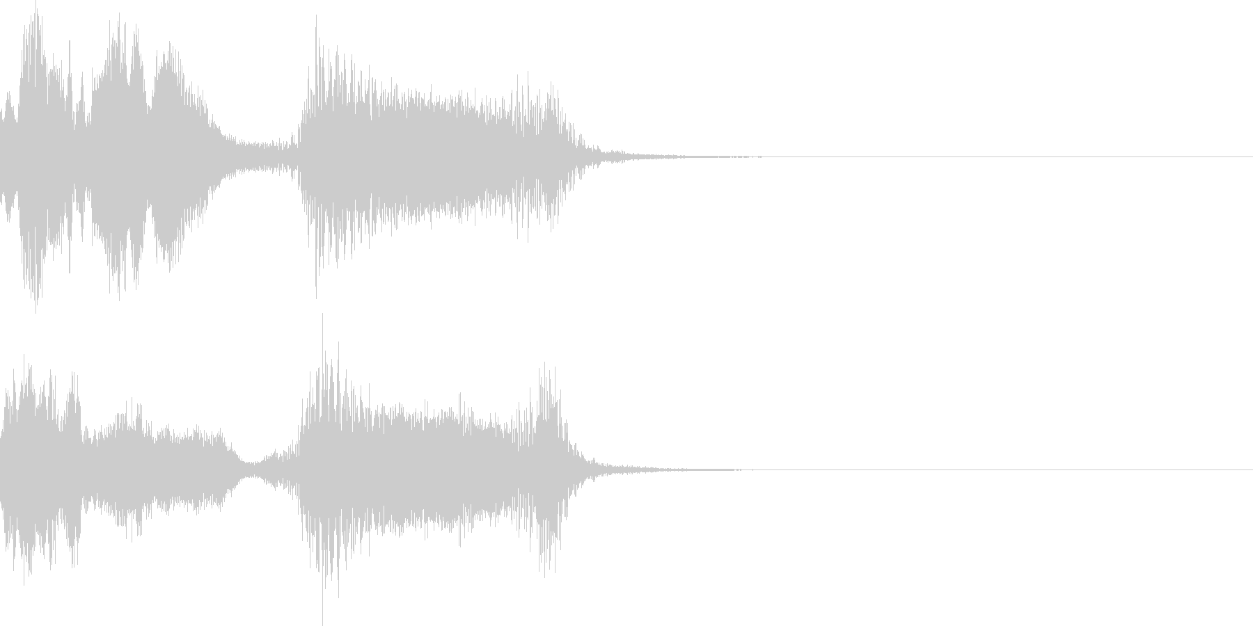 ハッピーニューイヤー ボイス&DJロゴ1の未再生の波形