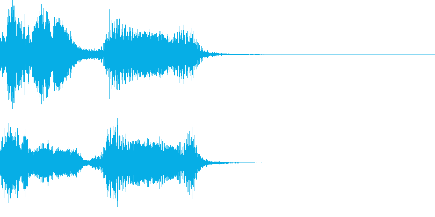ハッピーニューイヤー ボイス&DJロゴ1の再生済みの波形
