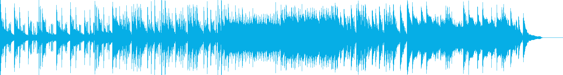 キラキラしたイルミネーションのような曲の再生済みの波形