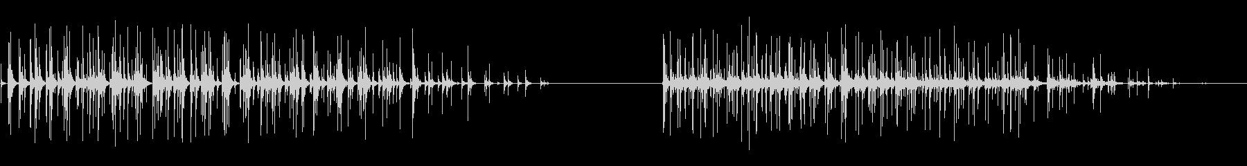拍手、グループ、拍手、2つのバージ...の未再生の波形