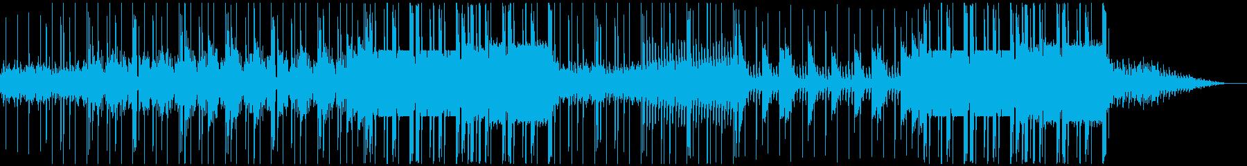 怪しく激しいヒップホップ(トラップ)の再生済みの波形