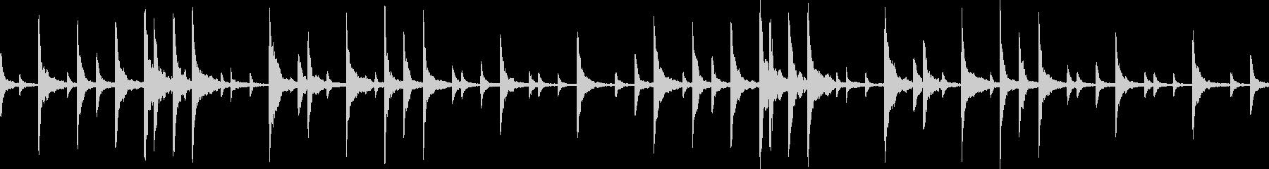 悲しい雰囲気のピアノ曲ですの未再生の波形