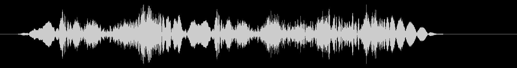 高速なびくスクラッチザップ2の未再生の波形