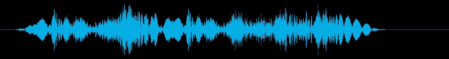 高速なびくスクラッチザップ2の再生済みの波形