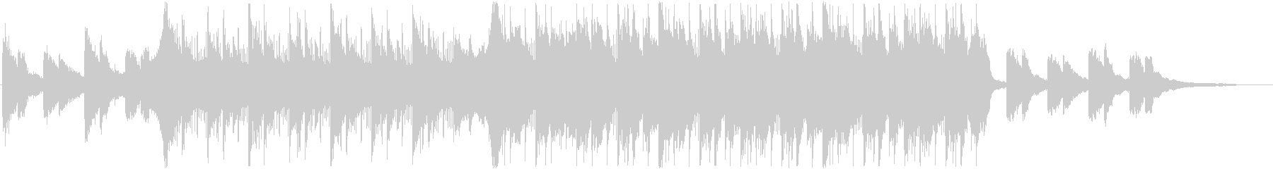 決断の時を表現したHip-Hop曲ハーフの未再生の波形