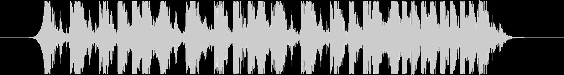 ドラムジングル!10秒の未再生の波形