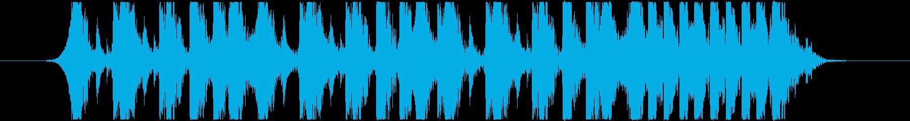 ドラムジングル!10秒の再生済みの波形