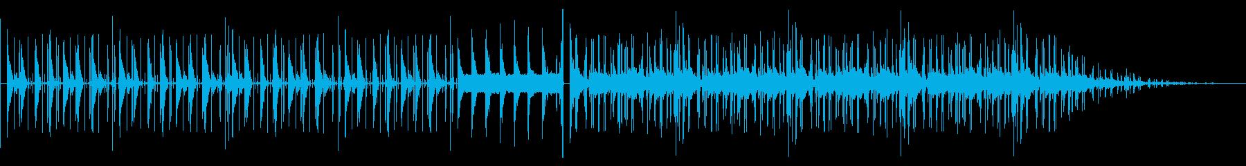 ゆるふわクール系のBGMの再生済みの波形