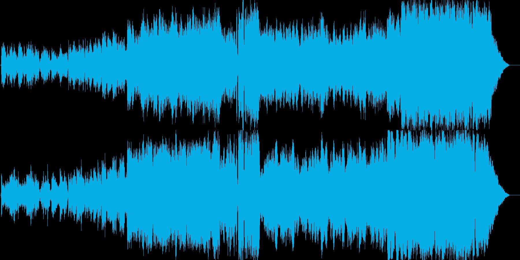 ゆったりとした和風曲の再生済みの波形