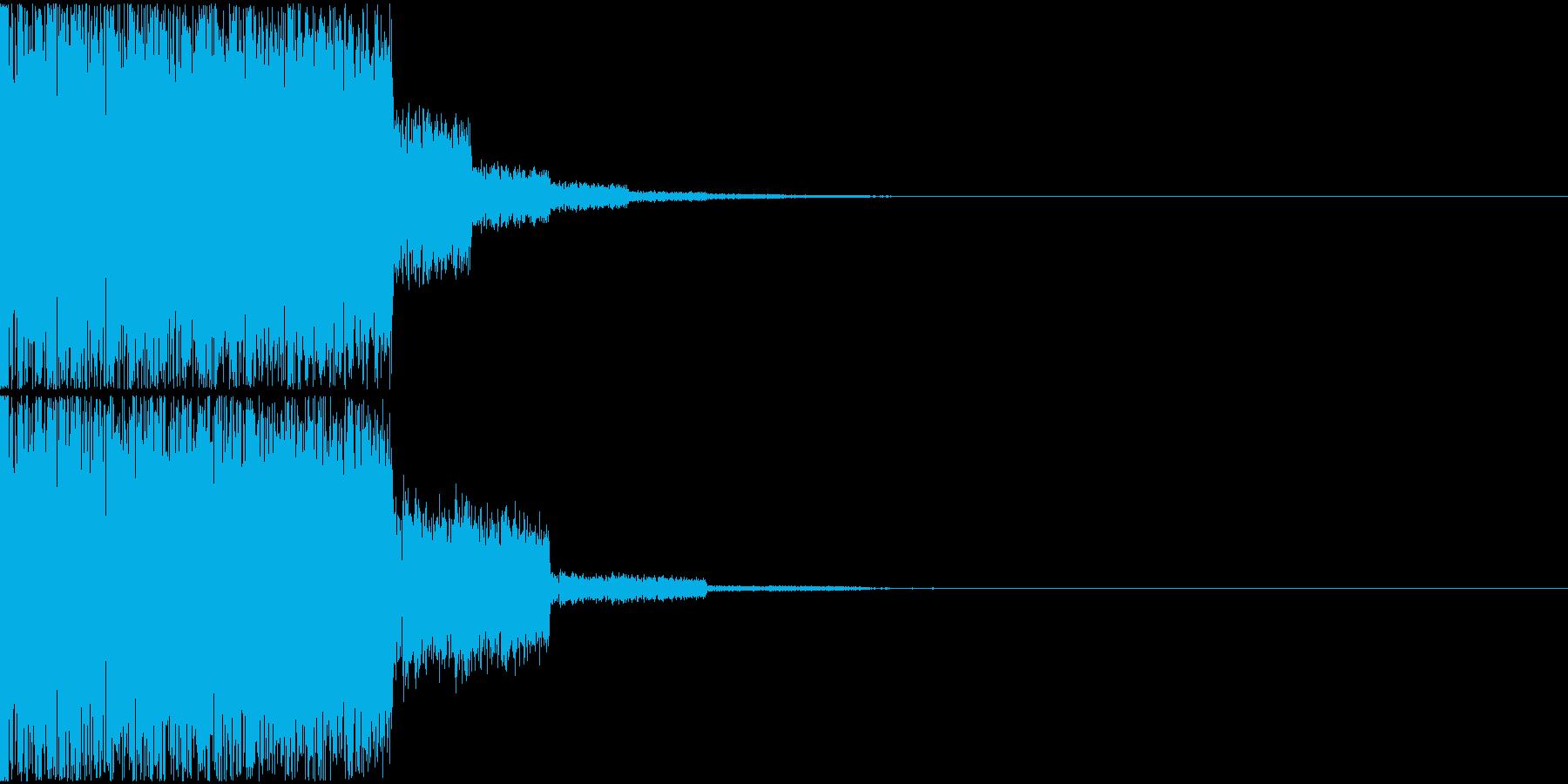 パズルゲームのライン揃い音の再生済みの波形